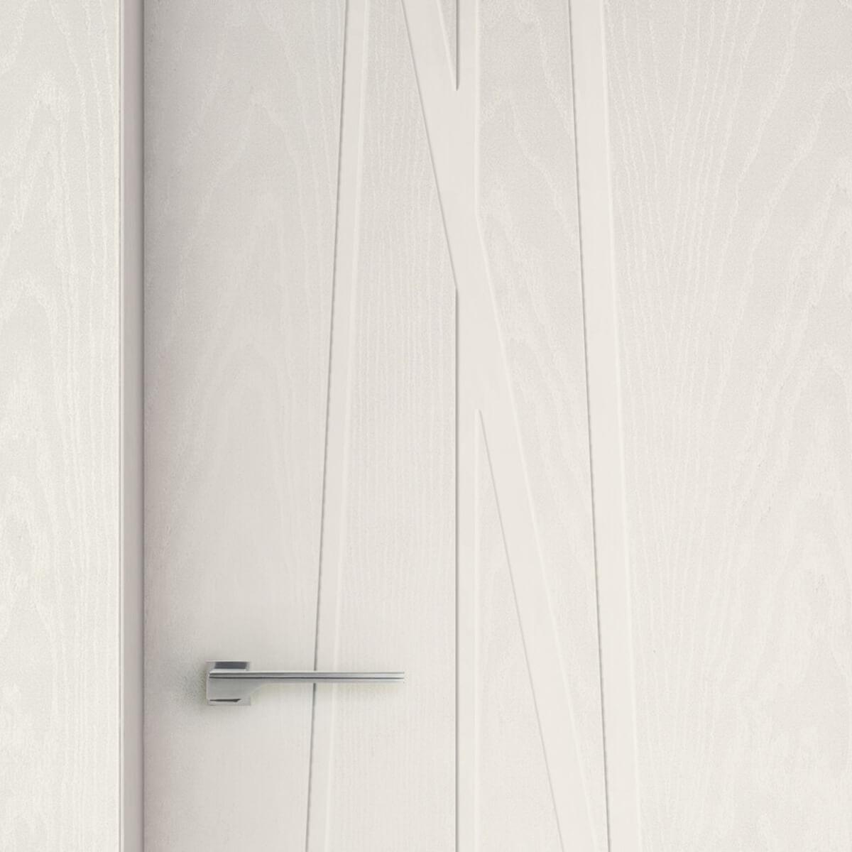 Imago - dettaglio porta incisione su frassino bianco