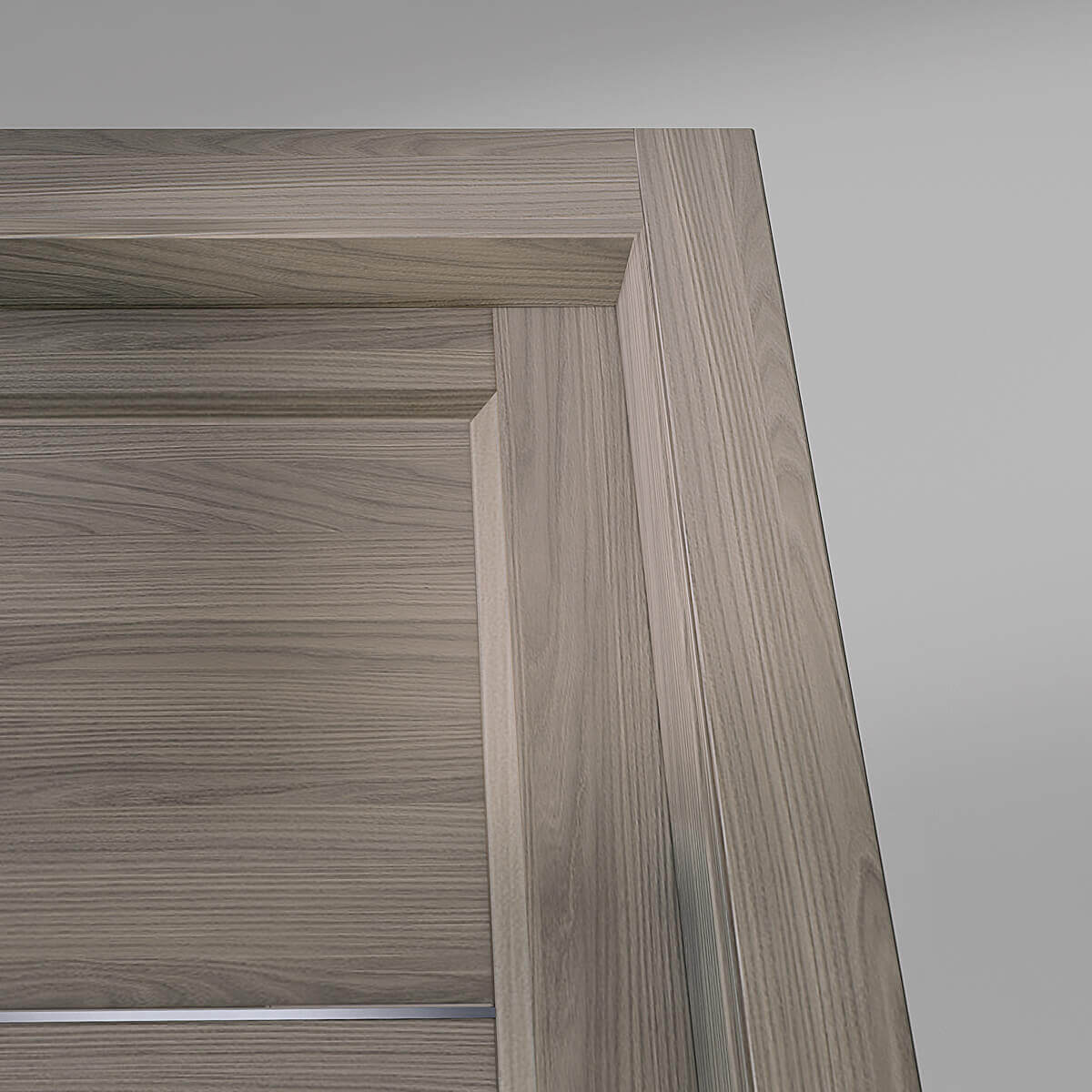 Zeus - dettaglio porta finitura ambra inserti alluminio