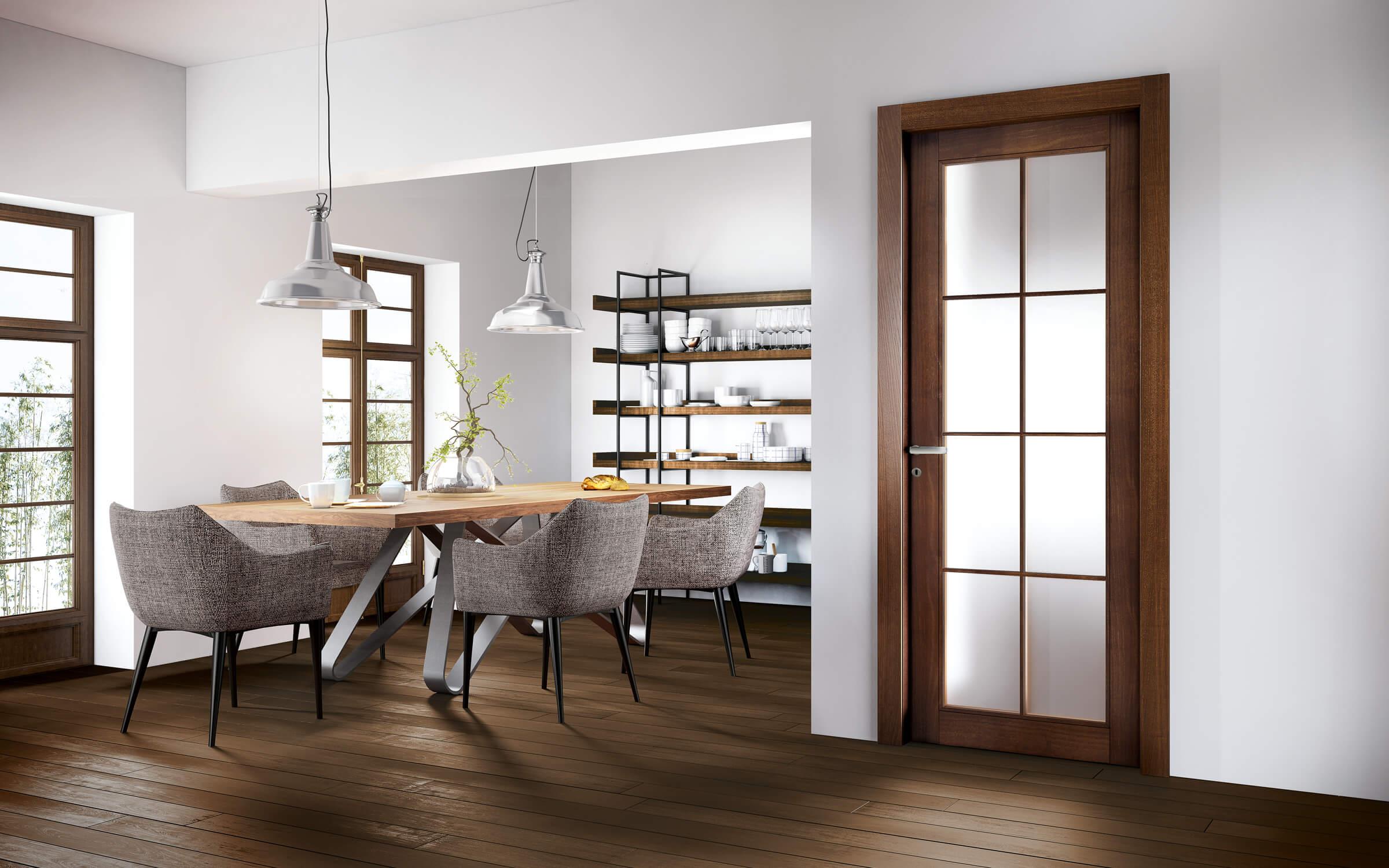 Orion - porta componibile legno noce canaletto