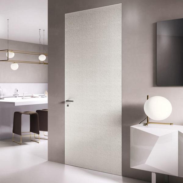 Porta design floreale laccato bianco Art. T50E