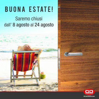 chiusura estiva - summer holidays - congés d'été