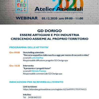 GD Dorigo al webinar Made in Veneto promosso dalla Regione